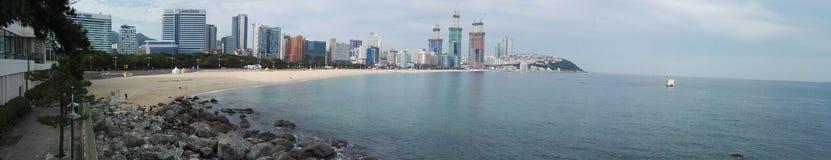 Пляж Haeundae на Пусане, Южной Корее Стоковая Фотография RF