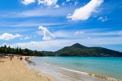 Пляж harn Nai в Пхукете Таиланде стоковое изображение rf