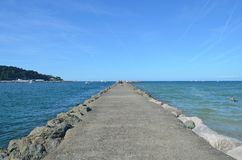 Пляж Hendaye стоковая фотография rf
