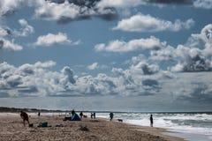 Пляж Henne на датском побережье Северного моря Стоковые Фотографии RF