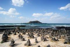 Пляж Hyeopjae Стоковая Фотография RF