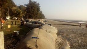Пляж Inani - Cox& x27; благотворительный базар BD s стоковое фото