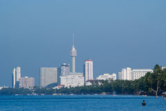 пляж jomtien pattaya Таиланд Стоковое фото RF