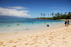 пляж kapalua залива стоковое фото