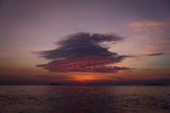 Пляж Karimun Ява захода солнца Стоковое Изображение RF