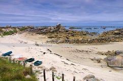 Пляж Kerlouan в Finistere в Бретани Стоковые Изображения RF