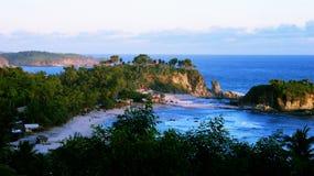 Пляж Klayar, Pacitan, Индонезия Стоковое Фото