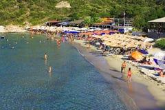 Пляж Klimataria стоковая фотография rf