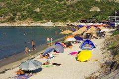 Пляж Klimataria стоковые изображения rf
