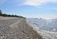 Пляж Lake Baikal Стоковые Изображения RF