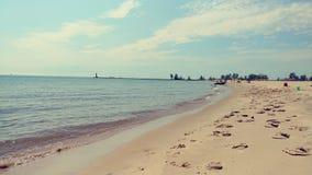 Пляж Lake Michigan Стоковые Изображения