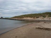 Пляж Lake Michigan Manistee стоковые фотографии rf
