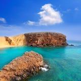Пляж Lanzarote El Papagayo Playa в Canaries Стоковое Изображение