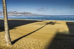 Пляж Las Canteras в Las Palmas de Gran Canaria Стоковое Фото