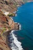 Пляж Las Gaviotas, Tenerife Стоковые Изображения RF
