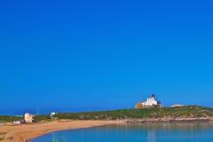 Пляж Le грандиозный phare Стоковое фото RF