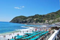 Пляж Levanto - Италии Стоковые Фотографии RF