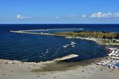 Пляж Mamaia на побережье Чёрного моря Стоковая Фотография