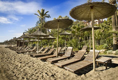 пляж marbella Стоковое фото RF