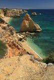 Пляж Marinha, Algarve Стоковое Изображение RF