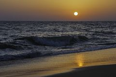 Пляж Matalascañas в Уэльве, Андалусии, Испании Стоковые Фотографии RF