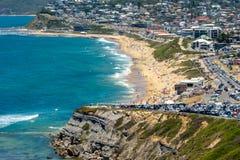 Пляж Merewether - Ньюкасл - Австралия стоковое изображение rf