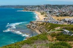 Пляж Merewether - Ньюкасл - Австралия стоковые фото