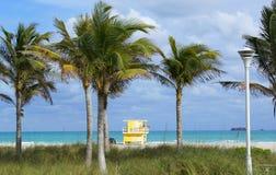 пляж miami Стоковые Фотографии RF