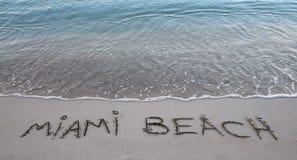 пляж miami Стоковая Фотография RF
