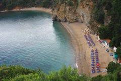 пляж mogren montenegro Стоковые Фото
