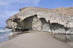 Пляж Monsul, национальный парк плащи-накидк Gata, Андалусия Стоковое Изображение