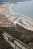 Пляж Nazare, Португалия стоковое фото rf