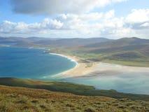 Пляж Northton, остров Херрис, Шотландии стоковое фото rf