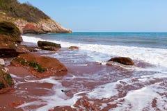 Пляж Oddicombe стоковые фотографии rf