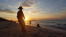 Пляж Phan Thiet в утре стоковое изображение rf