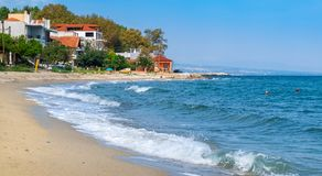 Пляж Platamonas Pieria, Греция Стоковое Фото