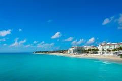 Пляж Playa del Carmen в Майя Ривьеры Стоковая Фотография