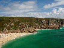 Пляж Porthcuno стоковое фото