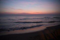 Пляж Pranburi, Prachuap Khiri Khan, Таиланд стоковые фото
