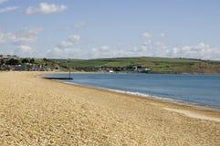 Пляж Preston, Weymouth, Дорсет Стоковое Изображение