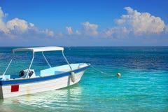 Пляж Puerto Morelos в Майя Ривьеры Стоковое фото RF