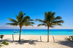 Пляж Puerto Morelos в Майя Ривьеры стоковое изображение