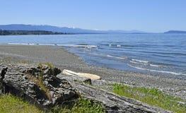Пляж Qualicum, остров ванкувер стоковые изображения rf