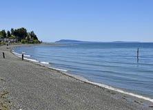 Пляж Qualicum, остров ванкувер стоковые фотографии rf