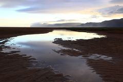 Пляж Rauðasandur, самое известное одно в Исландии, в северо-западных фьордах Стоковая Фотография
