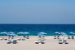 пляж rhodes Стоковые Фотографии RF