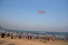 Пляж Rishikonda в Vishakhpatnam стоковые фото