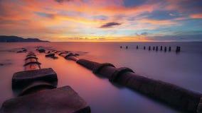 Пляж Robina, Butterworth Penang Стоковые Фото