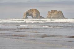 Пляж Rockaway, Орегон соединенные положения Стоковое фото RF