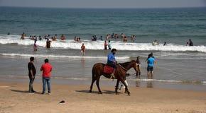 Пляж Rushikonda в Vishakhpatnam стоковая фотография
